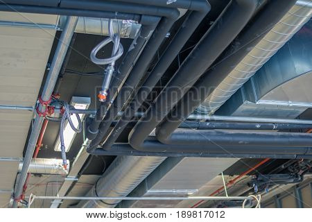 Pipes Of Hvac  System (heating Ventilation And Air Conditioning)
