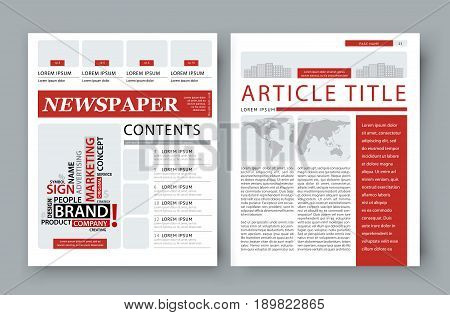 Corporate Magazine Template Front Vector  Photo  Bigstock