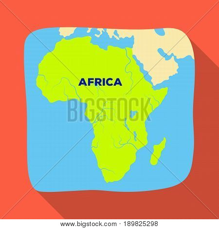 Territory of Africa.African safari single icon in flat style vector symbol stock illustration .