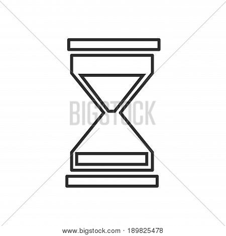 business sand clock icon glass timer symbol vector illustration