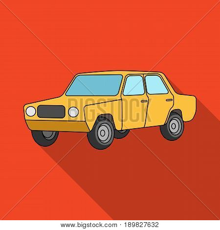 Old car.Car single icon in flat style vector symbol stock illustration .