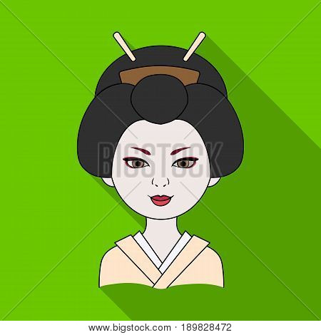 Japanese.Human race single icon in flat style vector symbol stock illustration .