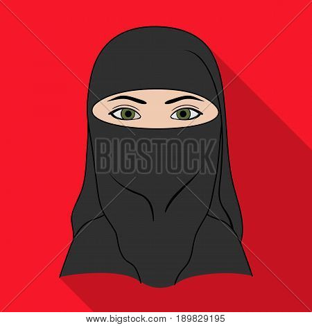 A woman from the Middle East.Human race single icon in flat style vector symbol stock illustration .