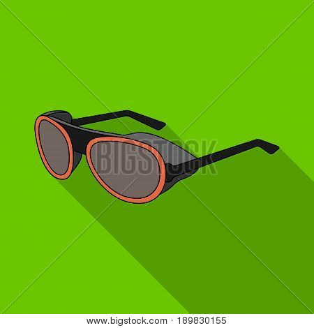 Protective glasses.Mountaineering single icon in flat style vector symbol stock illustration .