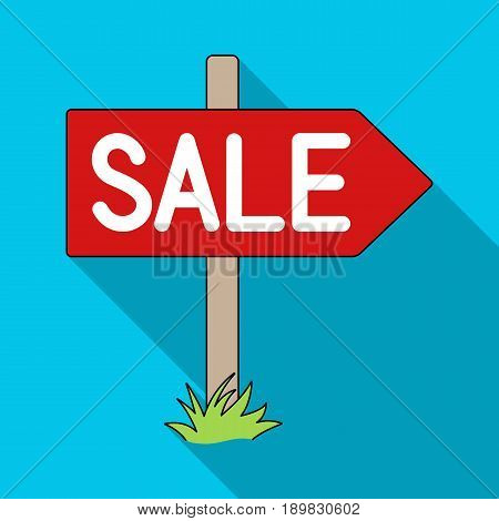 Signboard sale.Realtor single icon in flat style vector symbol stock illustration .