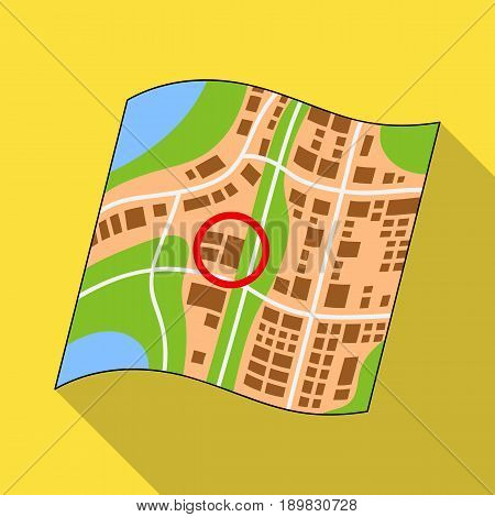 Location on the map.Realtor single icon in flat style vector symbol stock illustration .