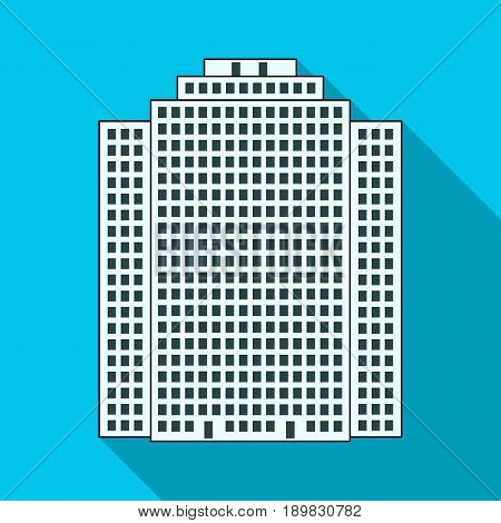 High-rise building, skyscraper, Realtor single icon in flat style vector symbol stock illustration .