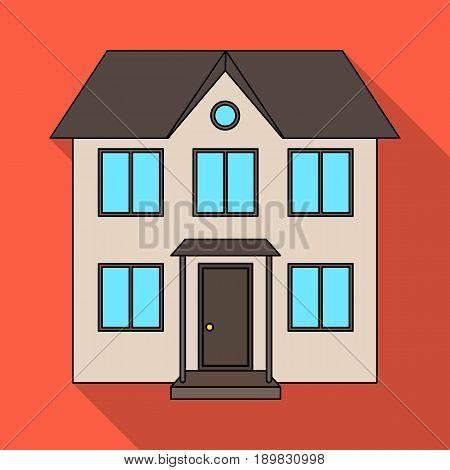 Private cottage.Realtor single icon in flat style vector symbol stock illustration .