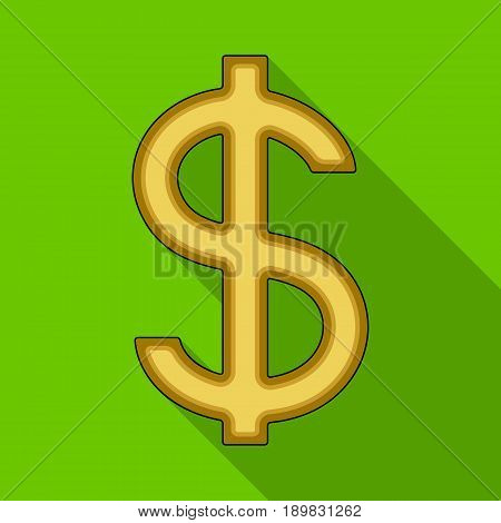 Dollar sign.Realtor single icon in flat style vector symbol stock illustration .