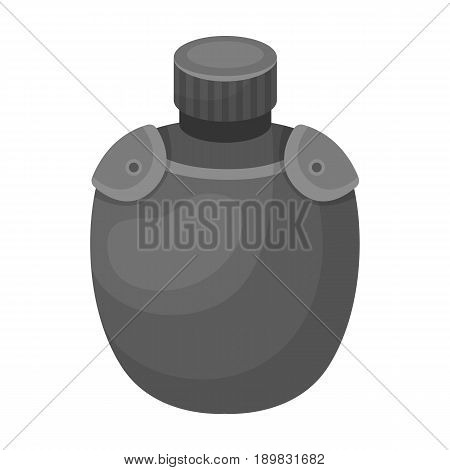 Jar with water in the case.African safari single icon in monochrome style vector symbol stock illustration .