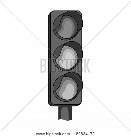Traffic light for vehicles.Car single icon in monochrome style vector symbol stock illustration .