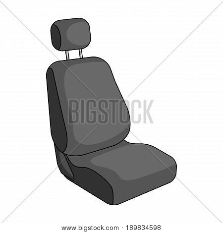 Car seat.Car single icon in monochrome style vector symbol stock illustration .