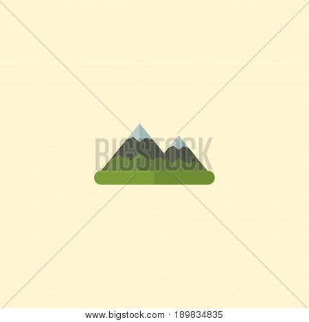 Flat Mountains Element. Vector Illustration Of Flat Hill Isolated On Clean Background. Can Be Used As Hill, Mount And Mountain Symbols.