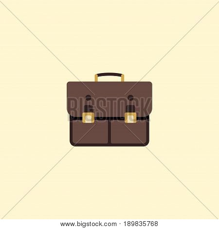 Flat Case Element. Vector Illustration Of Flat Portfolio Isolated On Clean Background. Can Be Used As Case, Portfolio And Suitcase Symbols.