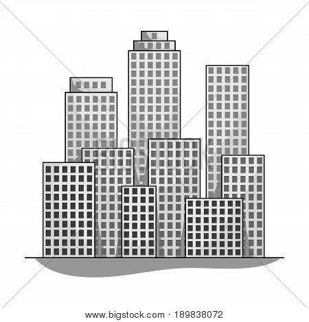 Metropolis.Realtor single icon in monochrome style vector symbol stock illustration .