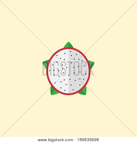 Flat Dragon-Fruit Element. Vector Illustration Of Flat Pitaya Isolated On Clean Background. Can Be Used As Pitaya, Dragon And Fruit Symbols.