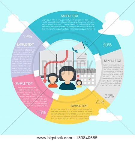 Gathering Info Infographic | set of vector diagram illustration use for presentation, business, marketing and much more.The set can be used for several purposes like: websites, print templates, presentation templates, and promotional materials.