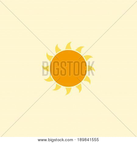 Flat Sun Element. Vector Illustration Of Flat Sunshine Isolated On Clean Background. Can Be Used As Sun, Sunshine And Sunny Symbols.