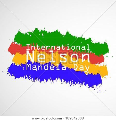 illustration of International Nelson Mandela Day Text
