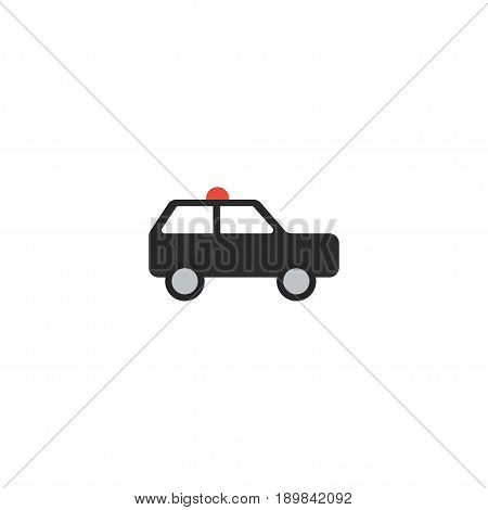 Flat Suv Element. Vector Illustration Of Flat Armored Car  Isolated On Clean Background. Can Be Used As Armored, Car And Suv Symbols.