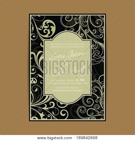 Wedding invitation and save the date cards. Also can be used as greeting cards, birthday cards or party invitations.