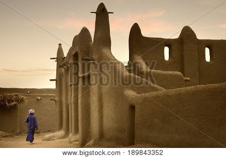Mali, West Africa - Mosques Built Entirely Of Clay