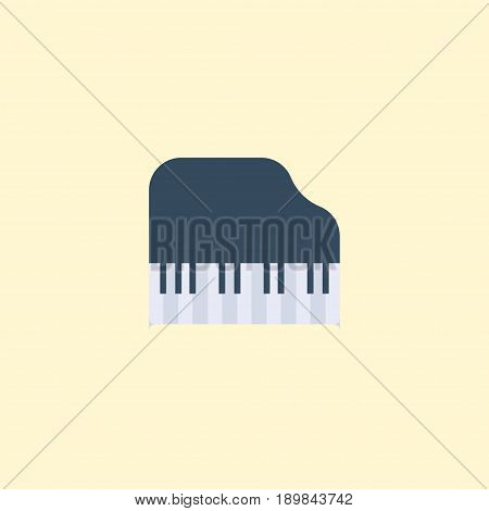 Flat Piano Keys Element. Vector Illustration Of Flat Octave Keyboard  Isolated On Clean Background. Can Be Used As Piano, Keys And Octave Symbols.