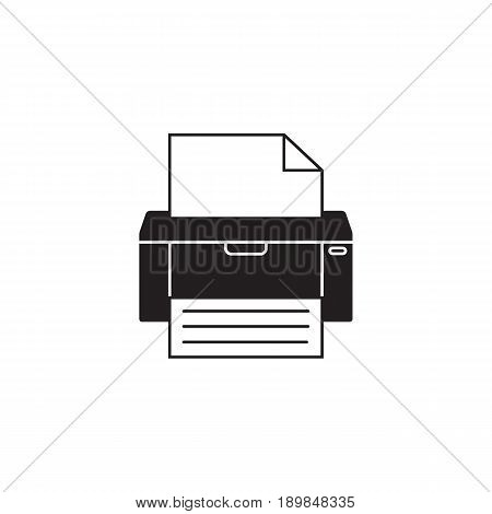 Fax solid icon, printer, electronic device, social media, vector graphics, a filled pattern on a white background, eps 10.