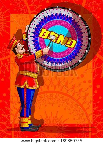 Marching Music Brass Band for festival celebration. Vector illustration