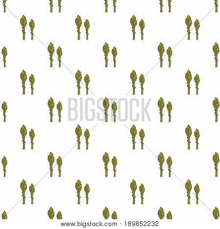 Asparagus hand drawn on white background. Hand drawn seamless ornate for your designs dress, poster, card, t-shirt, restaurant menu.