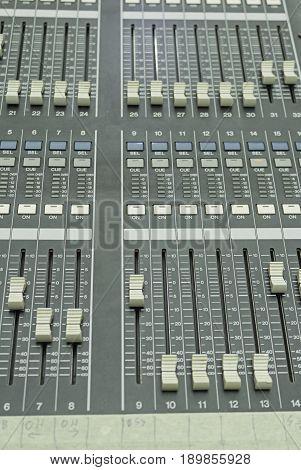 Mixer dj equipment in concert music, music instrument