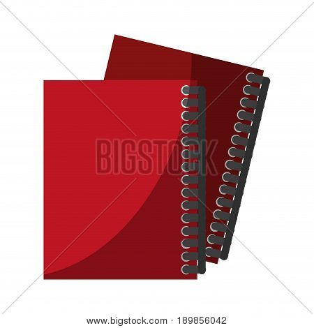two closed notebook icon image vector illustration design
