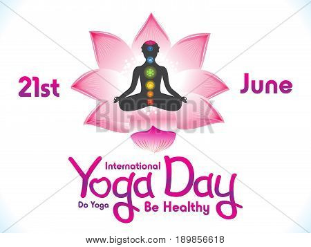 abstract artistic yoga day background vector illustration