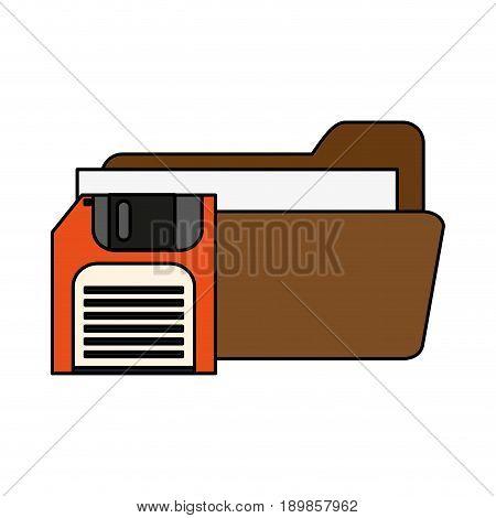 Floppy disk folder icon vector illustration graphic desing