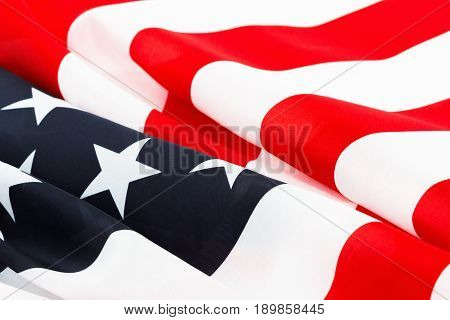 USA flag background. American symbol of Independence Day July Fourth democracy and patriotism