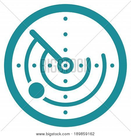 Soft Blue Radar interface pictogram. Vector pictogram style is a flat symbol on diagonal hatch transparent background.