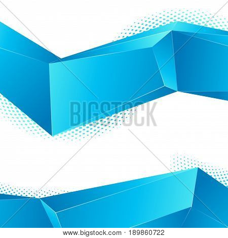 Blue abstract geometrical perspective line segments. Vector illustration