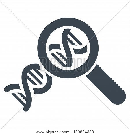 Smooth Blue Genetics interface pictogram. Vector pictogram style is a flat symbol on diagonal hatch transparent background.