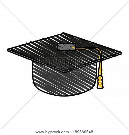 Graduation toga hat icon illustration vector design graphic