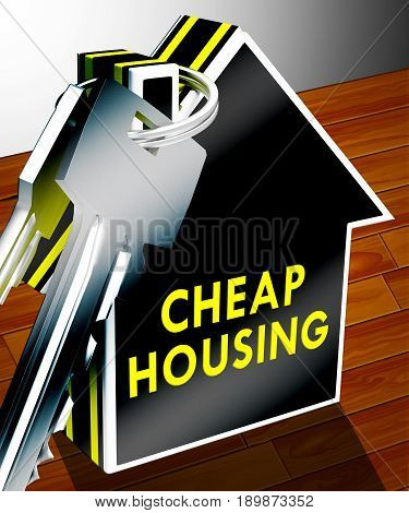 Cheap Housing Shows Real Estate 3D Rendering