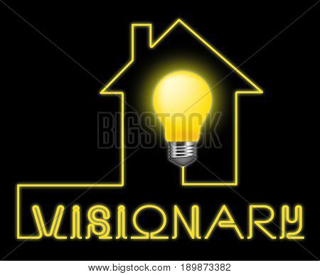 Visionary Light Represents Insights Strategist And Ideals
