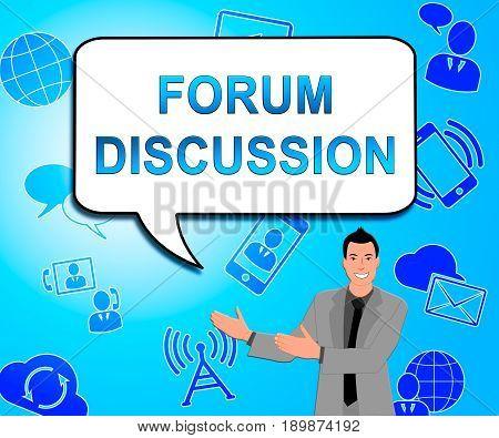 Forum Discussion Showing Community Talk 3D Illustration