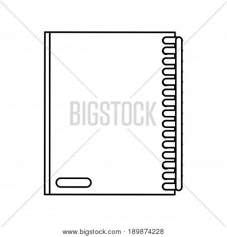 closed notebook icon image vector illustration design