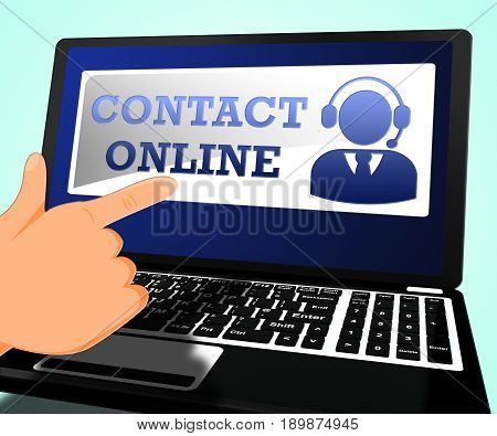 Contact Online Meaning Customer Service 3D Illustration