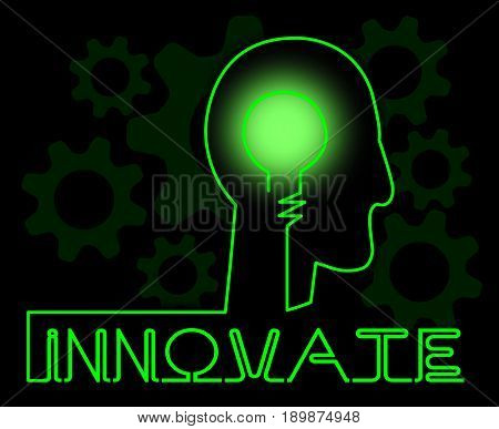 Innovate Brain Means Innovating Creative And Ideas
