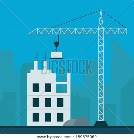 Apartment Construction Meaning Building Condos 3D Illustration