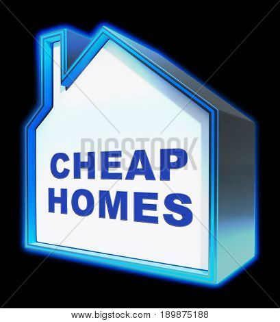 Cheap Homes Shows Real Estate 3D Rendering
