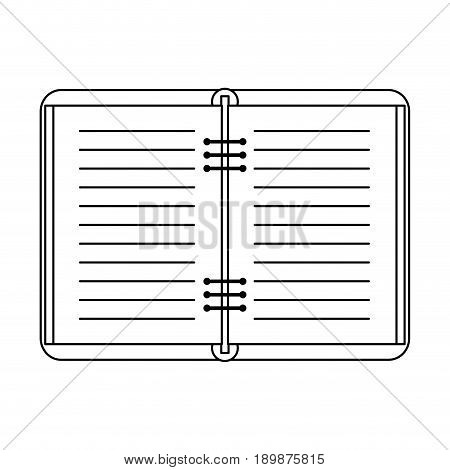 open notebook icon image vector illustration design