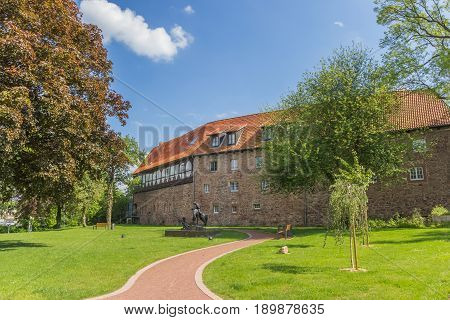 Castle And Garden In The Historical Center Of Blomberg