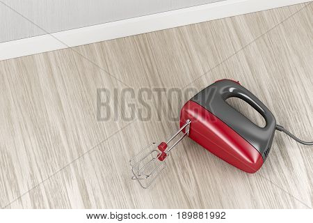 Electric mixer in the kitchen, 3D illustration